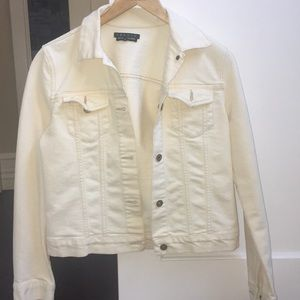 Theory off white jean jacket